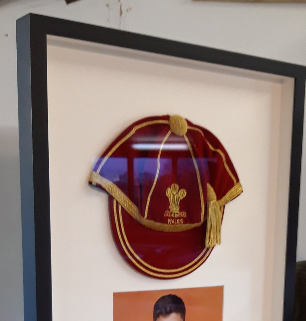 3D Framing Wales Cricket Cap and Photo
