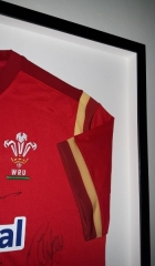 3D frame signed Wales Rugby Shirt