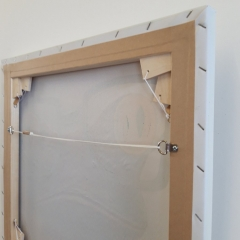 Back of a Stretched Canvas showing the Canvas Keys