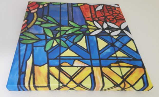 Canvas Case Study Gaudi Stained Glass Museum wrap