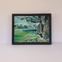 Canvas framed under Museum Glass