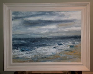 Canvas in a Hand Finished Lime Waxed Frame