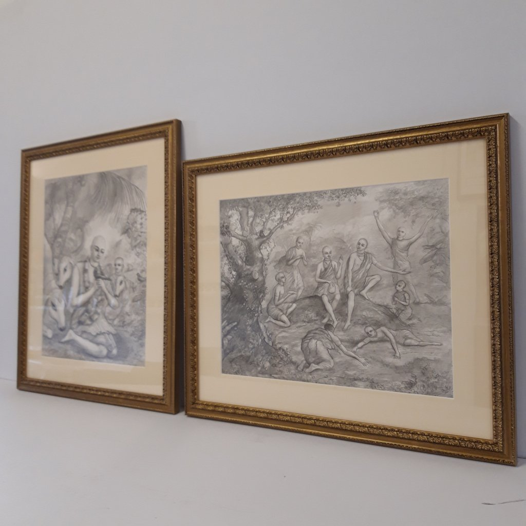 Conservation Framing Original Pashkar Pencil Drawings