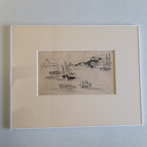 Conservation Framing of L S Lowry drawing