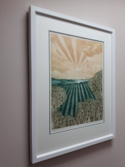 Contemporary Framing with a double mount for this John Brunsden Limited Edition Print