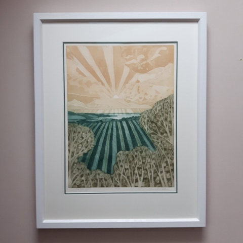 Contemporary framing with a double mount - John Brunsden Print