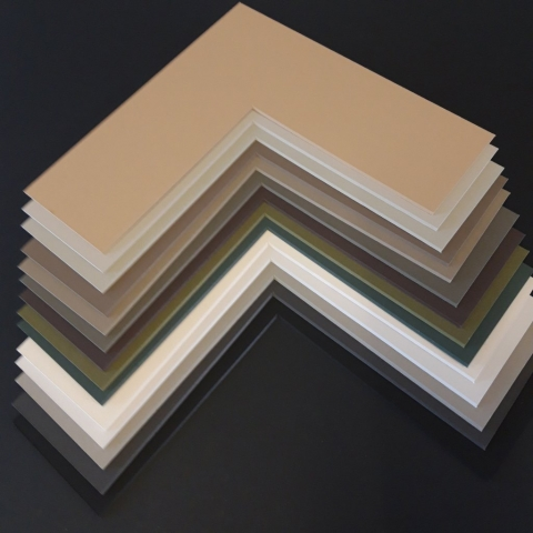 Crescent Solid Core Cotton Museum mountboard examples