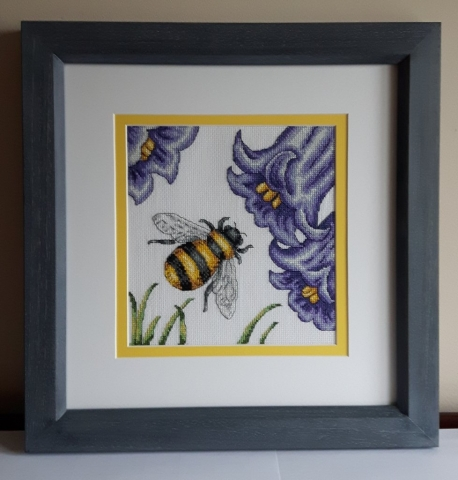 Cross Stitch in double mount and hand finished frame