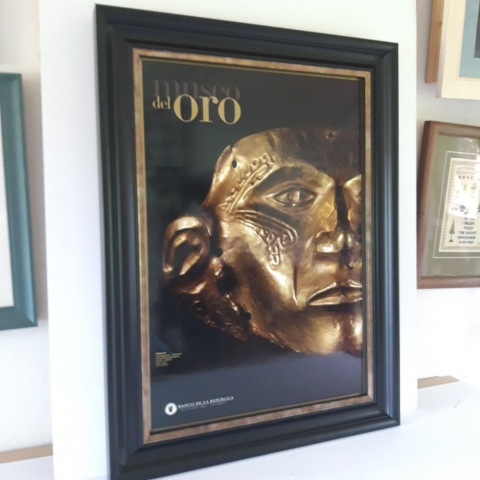 Designed for impact with a gold sight edge on the frame to highlight the gold in the poster image