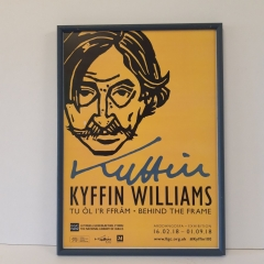 Exhibition poster Kyffin Williams in hand finished narrow frame moulding