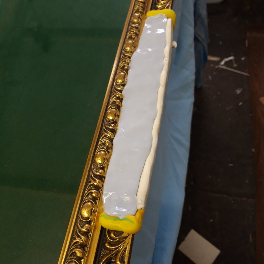 Gilt Frame Repair Making the Mould