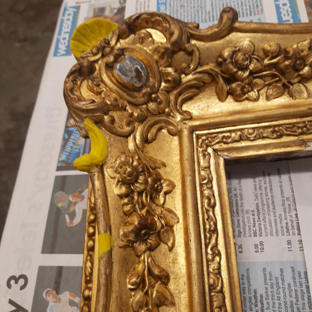 Gilt frame Repair Ready for Gilding