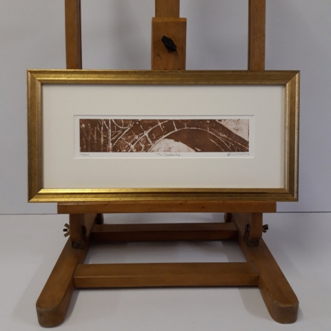 Gold Moulding for original artists print of the Iron Bridge in Ironbridge