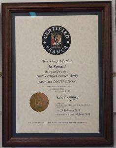 Guild Certified Framer February 2018 certificate