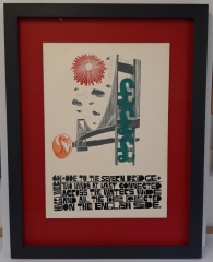 Hand Finished Frame Paul Peter Peich Linocut