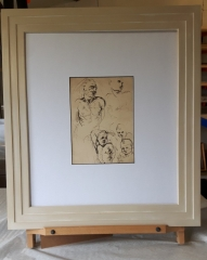 Hand Finished Painted Frame with black core mount board
