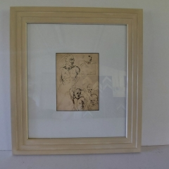 Hand Finished painted cream frame moulding