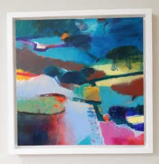 Hand Painted Tray Frame for Gerry Dudgeon Acrylic on Canvas