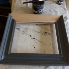 Hand painted natural moulding with Farrow and Ball Paint