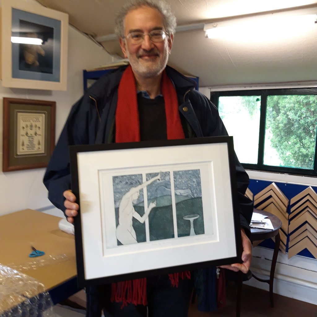 Happy Customer Local Printmaker preparing for an exhibition
