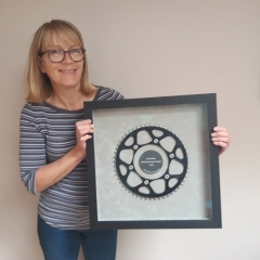 Jo Ronald with the 3D frame as featured in Art and Framing Today Magazine