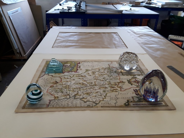 Mounting an historic map