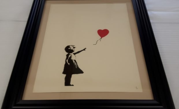 Museum Framing for Banksy Balloon Girl