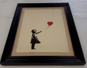 Museum Framing for Banksy Balloon Girl print