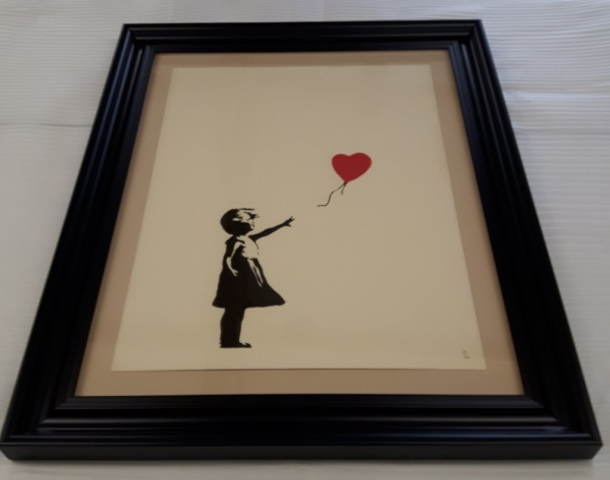 Museum Framing for Banksy Balloon Girl print