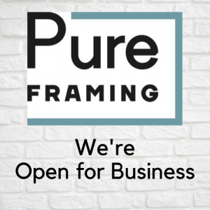 Pure Framing Open For Business graphic