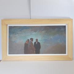 Re-framing Aneurin Jones Original bare wood before final colour