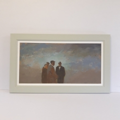 Re-framing Aneurin Jones in the new frame hand finished to compliment the art