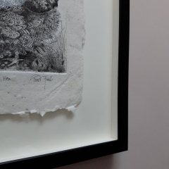 Shadow Float Mounting ideal for artwork with a deckled edge