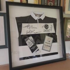 Sports Jersey framed with Match Programmes