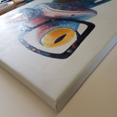 Stretching canvas in a Museum Wrap to hang directly on the wall