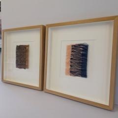 Textile framing for Artist Laura Thomas