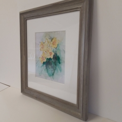 Watercolour painting with deep mount board